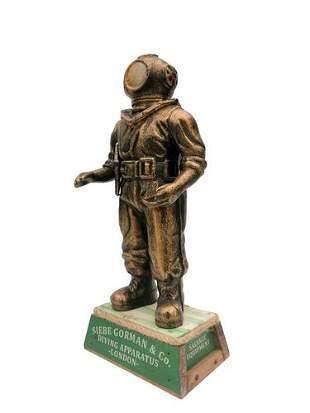 Sculpture - Diver - Iron - wood