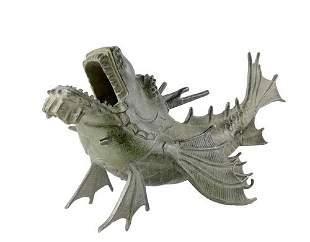 Bronze Dragon fish - Asian bronze art - Bronze decor