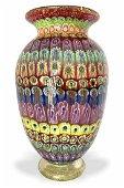 Amedeo Rossetto - Murano glass vase millefiori signed