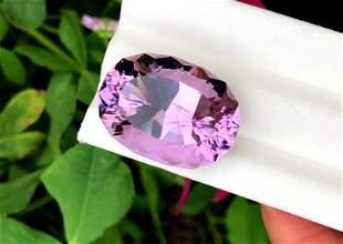Amethyst, 32.53 Cts Natural Top Color & Cut Amethyst