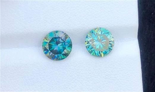 3.5 Carats Beautiful Pair Pieces Moissanite Gemstone