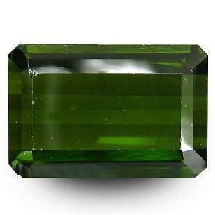 3.15 ct natural AAAA green tourmaline -octagon