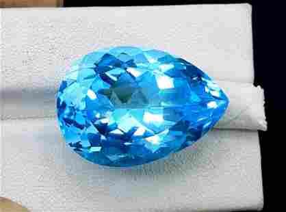 Topaz, 39.65 Carats Very Beautiful Natural Blue Swiss