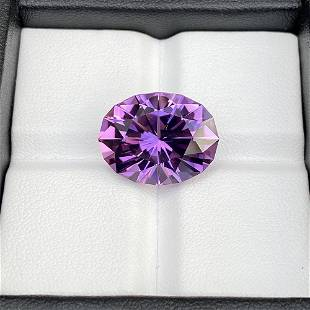 Natural Unheated Purple Amethyst 15.60 Cts Oval Cut
