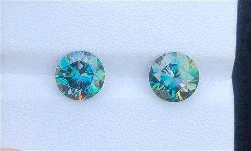4.5 Carats Beautiful Pair Pieces Moissanite Gemstone