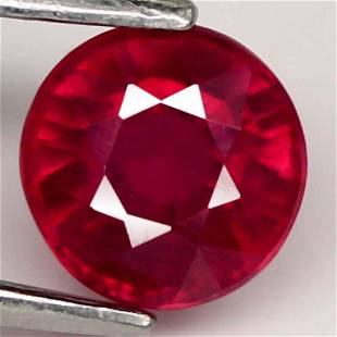 1.23 Ct. Ruby Natural Round Facet Top Blood Red