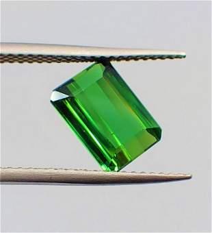 Green Tourmaline Certified - 2.35 ct