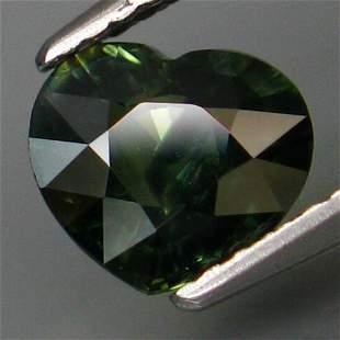 Unheated Natural Blue Green Sapphire-1.58 ct heart
