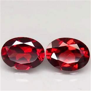 2,80 ct Pair! Natural Pink Red Garnet 2,80 ct
