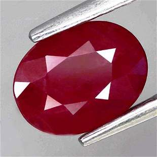 2,53 cts Natural Oval Blood Red Ruby