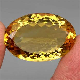 Big Size Very Clean 56.51 Ct 34x23mm Natural AAA Yellow