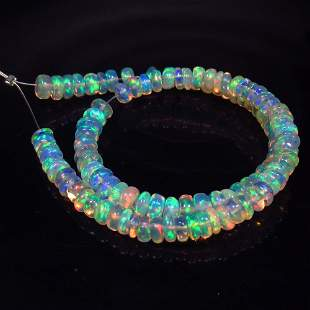 17.36 Ct Natural 105 Drilled Fire Opal Round Beads