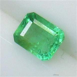 Natural Octagon Cut Zambian Emerald