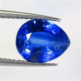 3.29 Ct Natural Deep Blue Kyanite Pear Cut