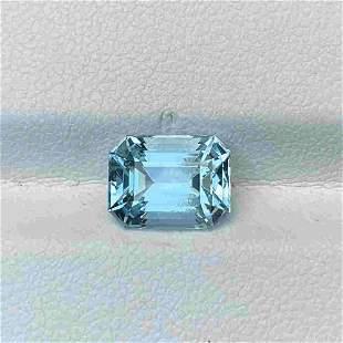 Natural Unheated Blue Aquamarine 2.66 Cts Emerald Cut
