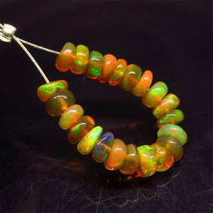 Natural Ethiopian Fire Opal Beads Untreated
