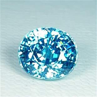 """4.44 ct """"IGI Certified"""" Natural Blue Zircon"""