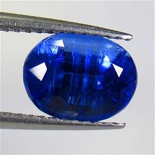 2.40 Ct Natural Deep Blue Kyanite Oval Cut