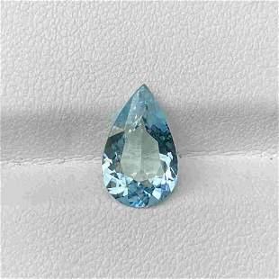Natural Unheated Blue Aquamarine 2.09 Cts Pear Cut