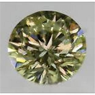 Natural Fancy Diamond Greenish Yellow 0.21ct