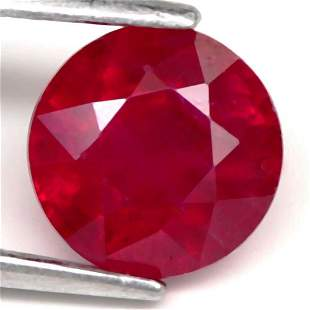 2,05 cts Natural Round Blood Red Ruby