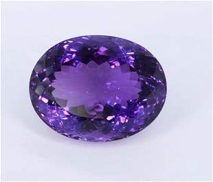 40.95 Crt Beautiful Oval Cut Amethyst Gemstone-1443779
