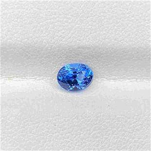 Natural Blue Sapphire 1.05 Cts Oval Cut Loose Gemstone