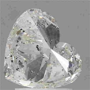 2.01 Ct White Heart Diamond Loose Gemstone 1 Pieces