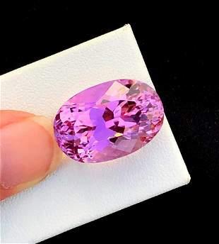 Natural Pink Kunzite Gemstone - 26.10 cts , 21*14*13 mm
