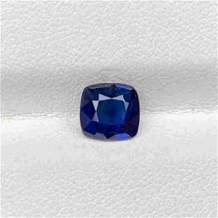 Natural Royal Blue Sapphire 1.68 Cts Cushion Cut Loose
