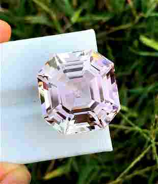 Natural Pink Kunzite Gemstone - 39.40 cts , 20*19*14 mm