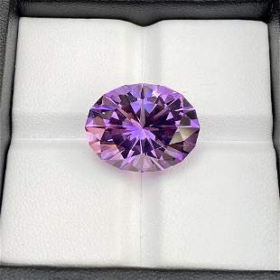 Natural Unheated Purple Amethyst 19.39 Cts Oval Cut