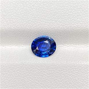 Natural Blue Sapphire 1.33 Cts Oval Cut Loose Gemstone