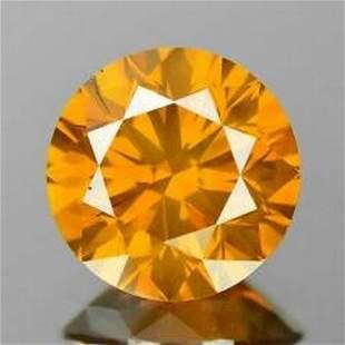 Natural Fancy Diamond Vivid Yellow-Orange with EGL