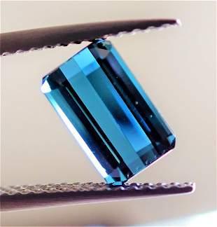 Blue Indigolite Tourmaline Certified - 1.76 ct