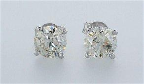 14 kt. White gold - Earrings - 2.01 ct Diamond -