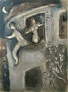 David saved by Mical: Chagall