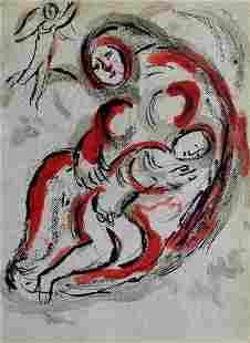 Hagar in the desert: Chagall