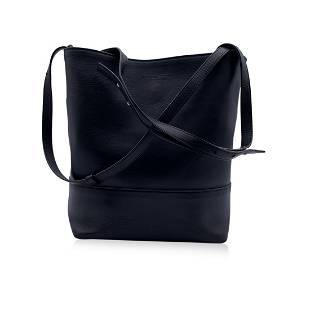 Bottega Veneta Black Smooth Leather Bucket Tote