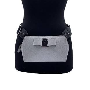 Salvatore Ferragamo Silver Glitter Vara Belt Bum Bag