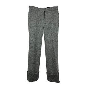 Stella McCartney Grey Wool Wide Leg Trousers Size 42 IT