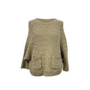 Woolrich Beige Cotton Knit Jumper Sweater Size S