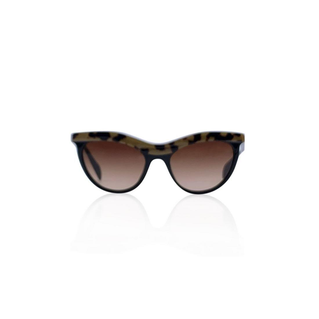 Prada Black Cat Eye SPR06P Sunglasses 54/19 140mm
