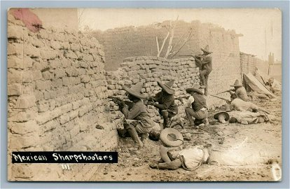 MEXICAN REVOLUTION SHARPSHOOTERS ANTIQUE REAL PHOTO