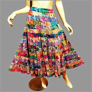 Vtg Neiman Marcus Original full skirt Floral cotton
