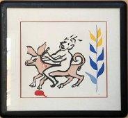 Alexander Calder- color aquatint from the Alan Kent set