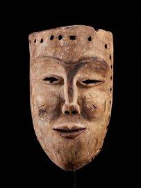 Kongo mask with polychromed lips,DRC
