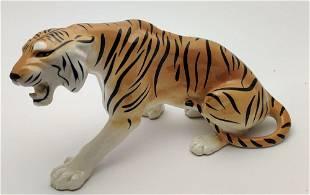Porcelain figurine Tiger USSR original vintage