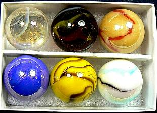Peltier marble box set of 6 limited edition 1 inch