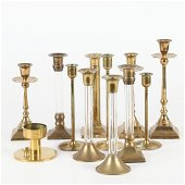 Vintage brass Candle holders colection - Set of 12